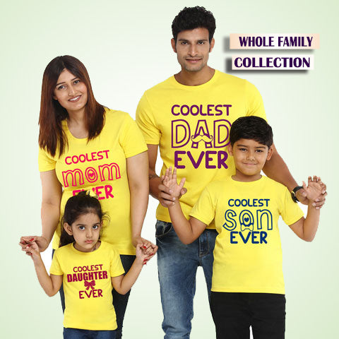 family t-shirts set of 3 4 5