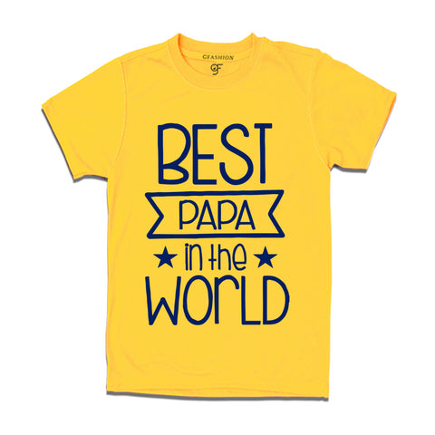Best papa in the world t shirt