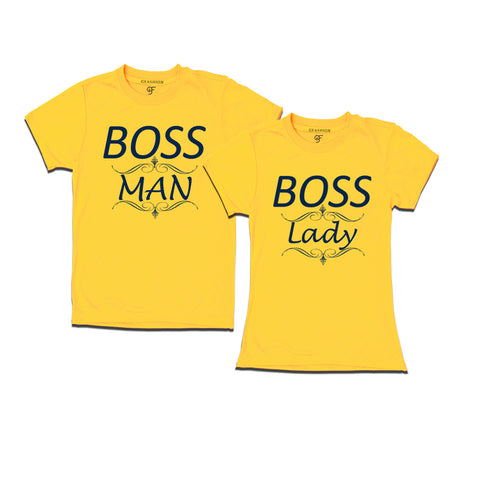 matching couple t shirt | boss of the family