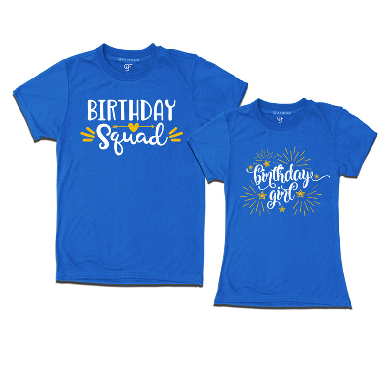 Birthday Squad And Girl T Shirt
