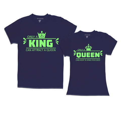 King and queen t-shirts-couple t shirts