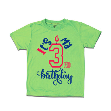 it's my 3rd birthday t shirts