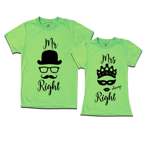 mr right mrs always right couple t shirts