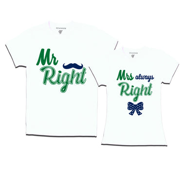 mr right mrs always right t shirts