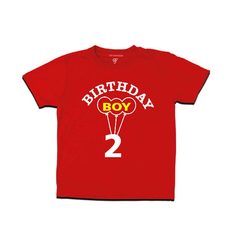 Boy 2nd Birthday T-shirt-Red-gfashion