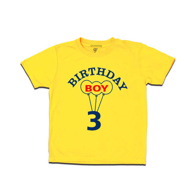 Boy 3rd Birthday T-shirt-Yellow-gfashion