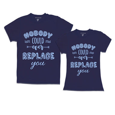 Nobody Could Ever Replace You - Couple T-shirts-navy