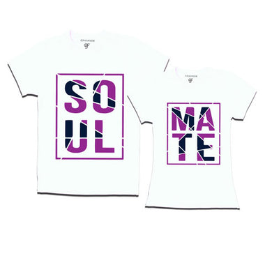 Soul Mate - Couple T-shirts-White