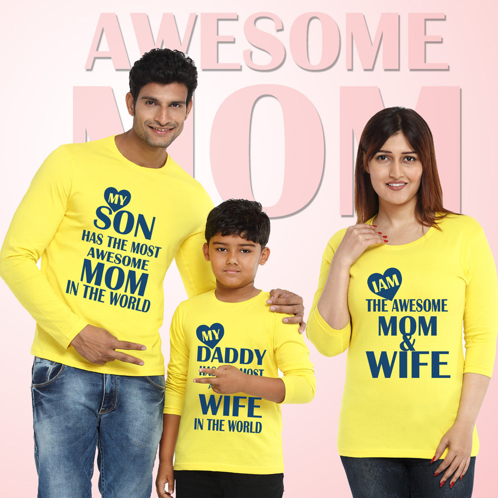 3690d56c family t shirts set of 3 for dad mom son – GFASHION
