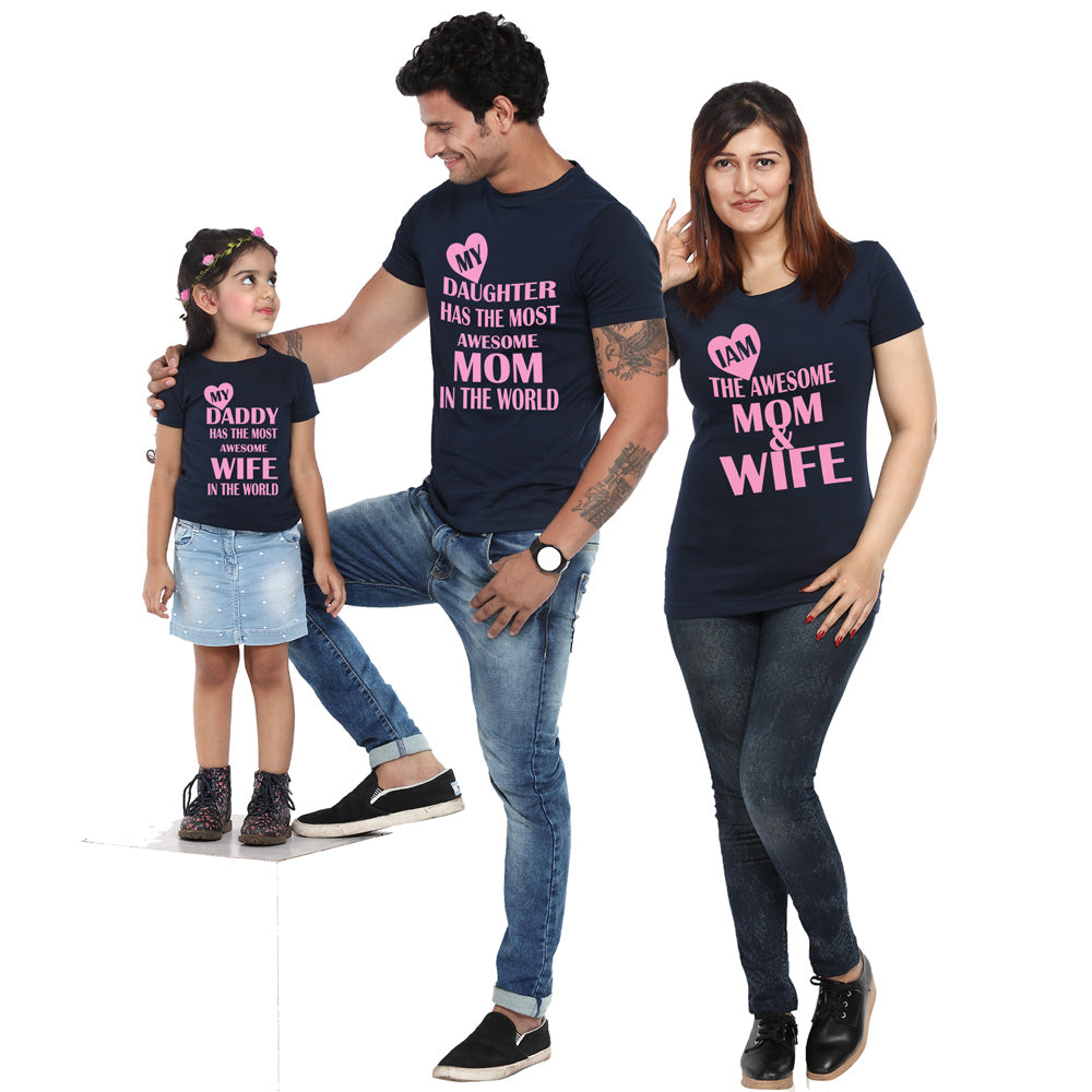 Dad Mom Son Daughter Family Matching Outfits Shirt Blouse Tops Tee Clothes