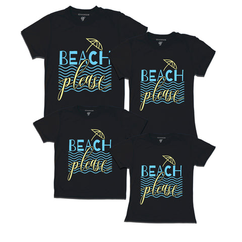 beach please t shirts for family