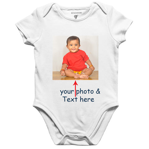 customize photo print rompers/bodysuit/onesie