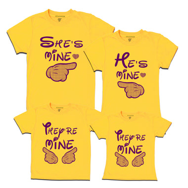 Family T-shirts- he's mine she's mine they're mine