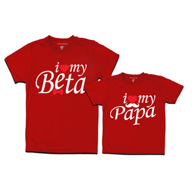i love my beta i love my papa t shirt