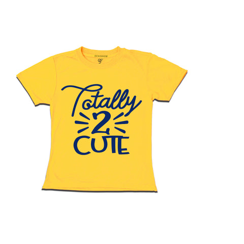 Totally 2 cute 2nd birthday t shirts boy or girl
