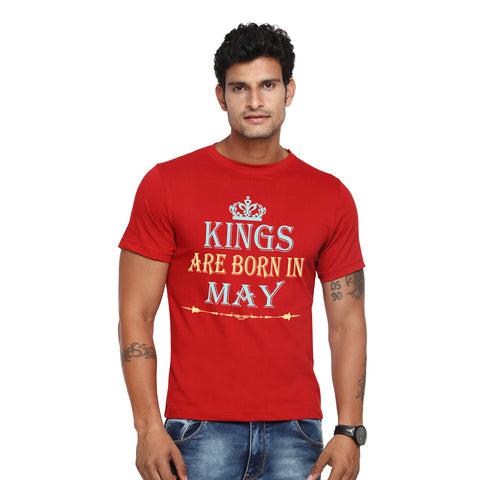 kings are born in may t shirt