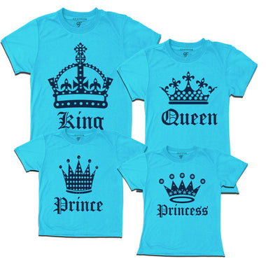 Matching family T-shirts - king queen prince or princess