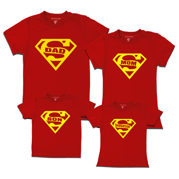 d43a287c11613 Family T-shirts set of 3-4- super family