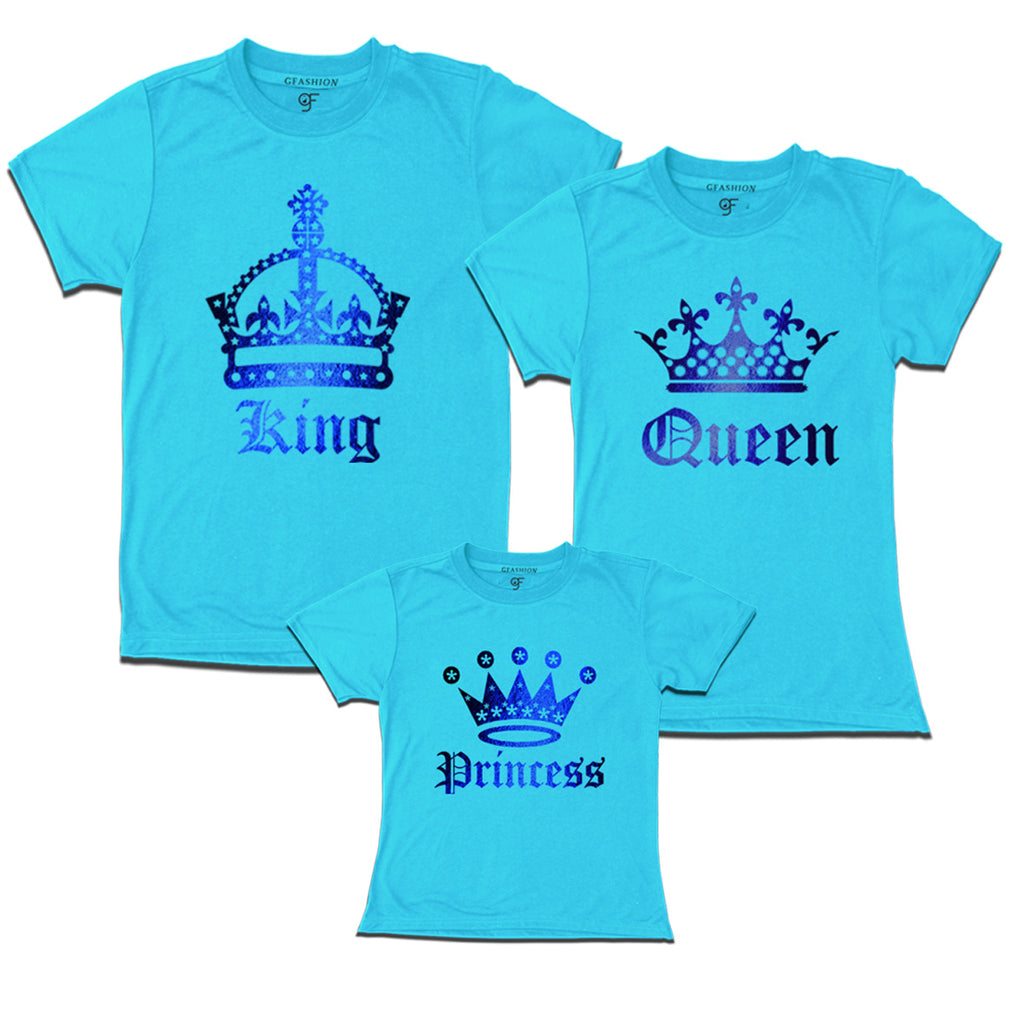 3d9f1fd43 king queen princess t shirts with gold foil print | family tees set ...