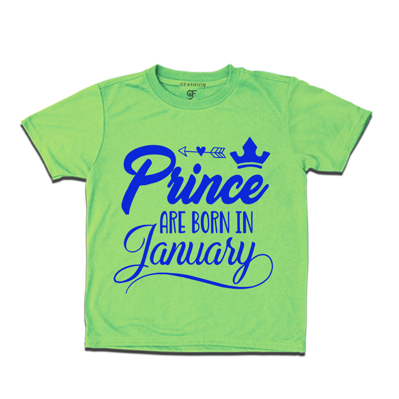 Prince are Born in January birthday  t-shirts
