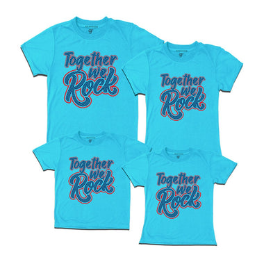 together we rock family t shirts-skyblue