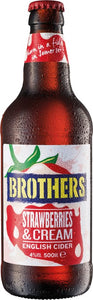 Brothers cider Strawberry Cream - doos 12 x 0,5L, Brothers cider