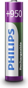 Philips AAA Oplaadbare Batterijen, Philips