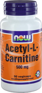 Now Acetyl-L-Carnitine 500 mg Capsules 50 st, Now Foods