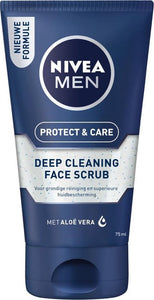 NIVEA MEN Protect & Care Face Scrub Reinigingsscrub - 75 ml, NIVEA