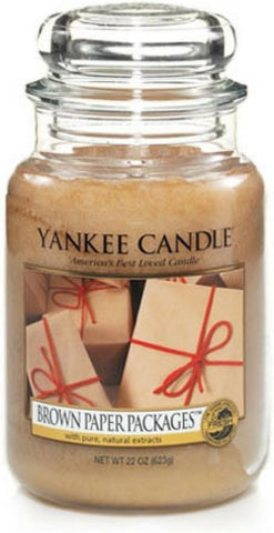 Yankee Candle Large Jar Geurkaars - Brown Paper Packages, Yankee Candle
