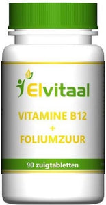 Elvitaal Vitamine B12 1000µ + foliumzuur - 90 Tabletten - Vitaminen, How2behealthy