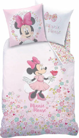 Disney Minnie Mouse Bloom - Dekbedovertrek - Eenpersoons - 140 x 200 cm - Multi, Disney Minnie Mouse