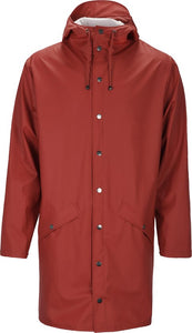 Rains Long Jacket 1202 Regenjas - Unisex - Scarlet, Rains