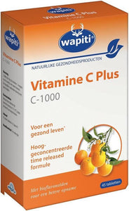 Wapiti Vitamine C Plus 1000 mg - 45 Tabletten - Vitaminen, Wapiti