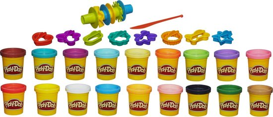 Play-Doh Super Color Kit Klei - 18 potjes 16 accessoires, Play-Doh