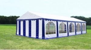 Premium Partytent PVC 5x10x2 mtr in Wit-Blauw, n.v.t