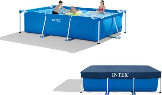 Zwembad Intex Metal Frame Pool 300x200x75 cm + afdekhoes, Intex