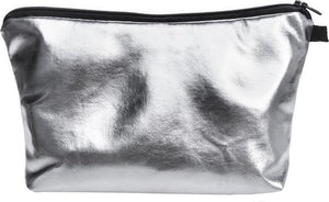 Zumprema Silver - Make-up Etui - zilver - leatherlook, ZUMPREMA