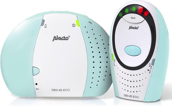 Alecto Baby DBX-85 Full Eco Dect Babyfoon - mint, Alecto