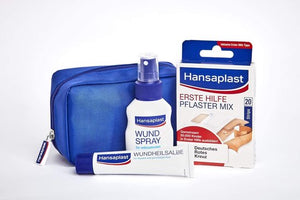 Ehbo kit  -  Ehbo kit Reis - Hansaplast 3-step wound care kit for quick wound healing with wound spray, wound plaster and wound healing ointment, Hansaplast