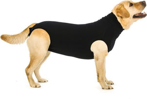 Suitical recovery suit hond zwart xl 74-82 cm, Suitical