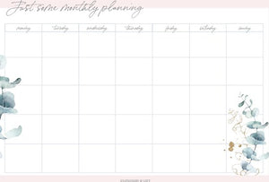 Maandplanner | Pink & Green Collection, Stationery & Gift