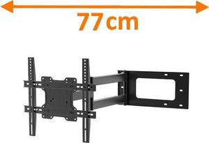 DQ Wall-Support Hercules Fixed 400 Black TV Beugel, DQ Wall-Support