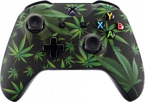 Xbox One S,,Wireless Controller – Cannabis Wiet Custom | Clever Gaming, Consoleskins.nl