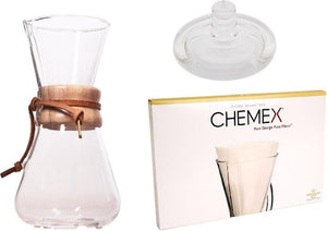Chemex Slow Coffee Set, 3-kops, Chemex