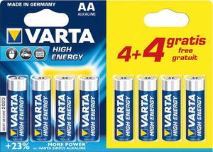 Varta AA High Energy Batterijen - 8 stuks, Varta