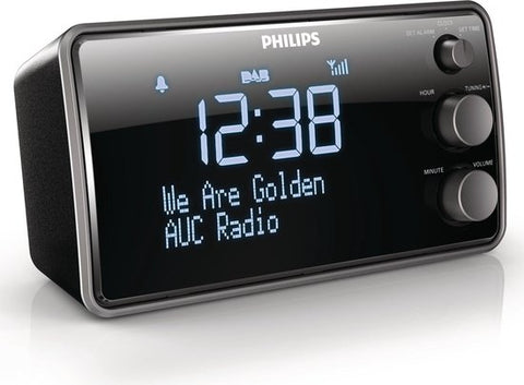 Philips AJB3552 - DAB+ wekkerradio - Zwart, Philips