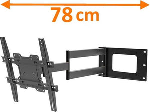 DQ Wall-Support Hercules Flex 400 black TV Beugel, DQ Wall-Support