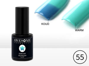 Awesome #55 Thermo Gelpolish Blauw - Mint Groen - Thermo Gellak - Thermo Gel nagellak - UV & LED, Awesome