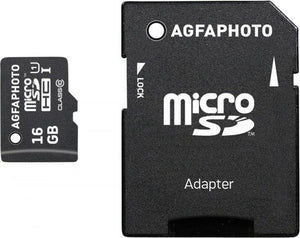 AgfaPhoto Mobile High Speed 16GB Micro SDHC Class 10 + Adapter, AgfaPhoto